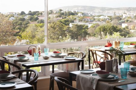 The breakfast room at Vilacqua Boutique Guest House in Plettenberg Bay