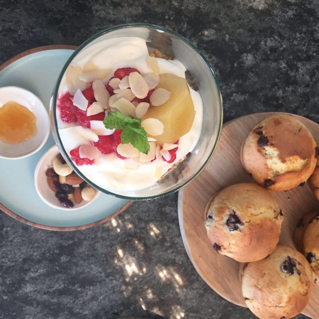 muesli-and-blueberry-muffins
